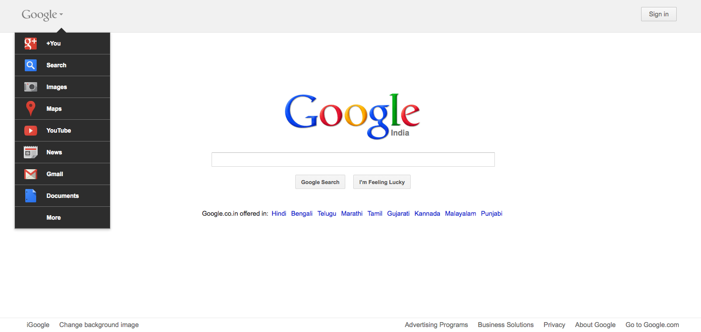 Google Homepage New Look