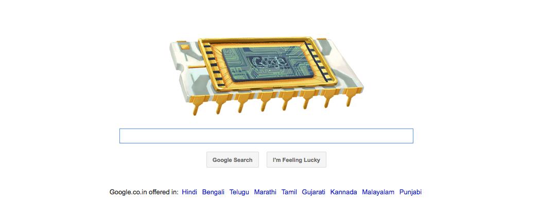 Google Doodle Robert Noyce's 84th Birthday
