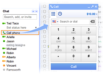 Gmail Free Calling for US and Canada Users