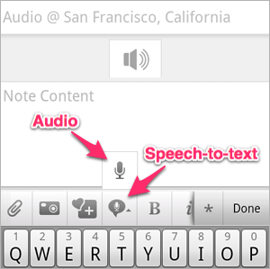 Evernote for Android update adds speech-to-text and new widgets