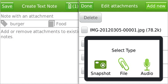 Evernote for Blackberry updated, adds better support for attachments