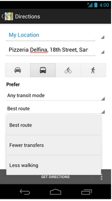 Google Maps 6.5 for Android adds new navigation menu, public transit options and more