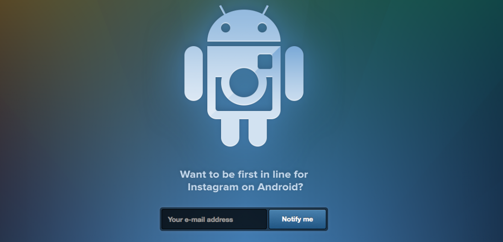 Instagram for Android on its way, pre-registration page up