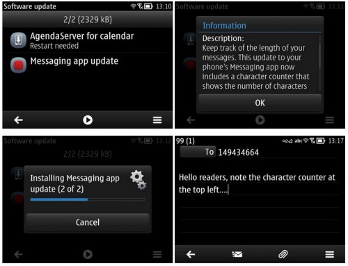 Nokia E6 gets an update for Messaging and Calendar app for Nokia Belle