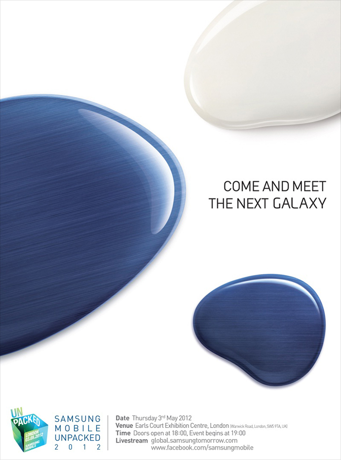 Samsung Galaxy S III to launch in London on May 3