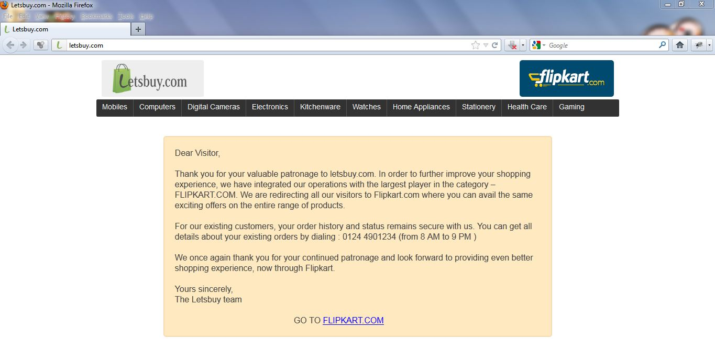 LetsBuy.Com Site Closure Message