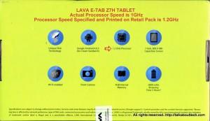 LAVA E-TAB Z7H TABLET