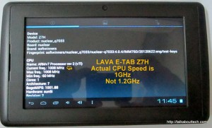 LAVA Z7H TABLET